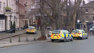 Police have cordoned off part of Tombland.