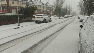 There was heavy snowfall in Luton.
