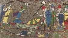 Giant mosaic of Bayeux Tapestry goes on display