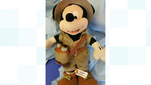 Appeals after young woman found alone with Mickey Mouse toy