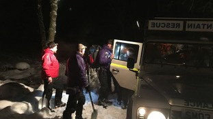 Mountain rescue team saves stranded man, 64, cut off by snowdrift