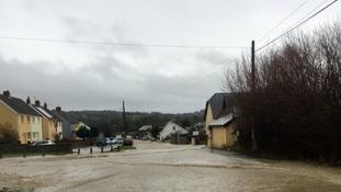 Flooding in street