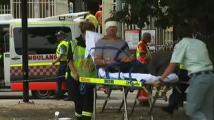 Sixteen people were injured.