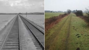 The track beds can still be seen.