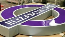 Purple roundels help London's Elizabeth Line take shape