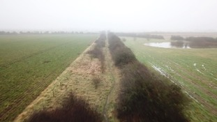 The remains of a track bed can be followed through the countryside.