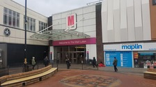 Two men stabbed at Luton shopping mall