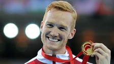 Greg Rutherford won gold in the long jump at the 2014 Commonwealth Games in Glasgow.