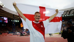 Rutherford celebrates his victory in 2014.