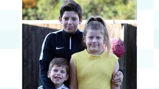 Kirsty's three children