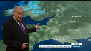 Patchy rain and windy in the West