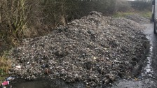 The pile of waste that was found in the Peak District