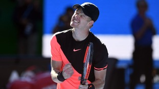 Kyle Edmund reaches first grand slam semi-final after beating Grigor Dimitrov at Australian Open