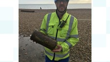 'Unexploded bomb' found on West Sussex beach