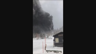 the eruption triggered an avalanche at Mount Kusatsu-Shirane,