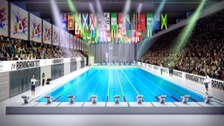 Artist impression of the aquatics centre