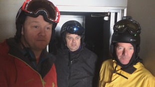 Alastair Jackson, Paul Green and Ian Clacherty from Whitby all witnessed the eruption