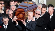 Tributes paid to Cranberries singer Dolores O'Riordan at funeral