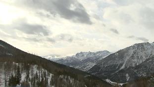 The migrants face treacherous conditions across the Alps.