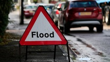 Flood warnings remain in place for much of this afternoon