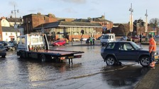 Police warn motorists to move vehicles ahead of flooding