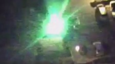 The moment a laser pen is beamed into the cockpit of an air ambulance helicopter