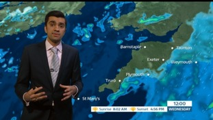 Weather: Rainy with strong winds