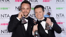 Ant and Dec win big at the National Television Awards