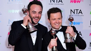 Ant gives emotional acceptance speech at the National Television Awards after 'a tough year'