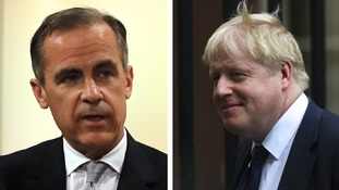 Sit-downs with Mark Carney and Boris Johnson were on offer.