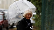 The Duchess of Cornwall arrives for a visit to The Clink restaurant at HMP Styal in Wilmslow.
