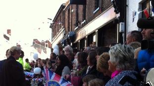 Crowds line Micklegate
