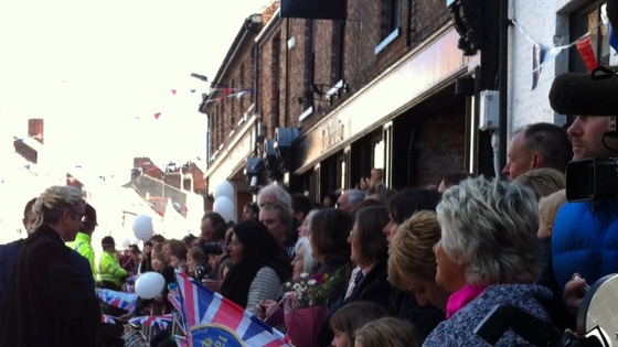 Crowds line Micklegate