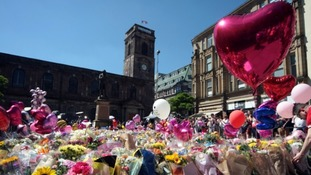 Tributes to the Manchester Arena bombing victims.