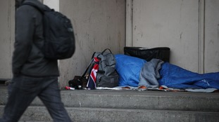 Increase in number of rough sleepers on England's streets 'highest in decade', figures show