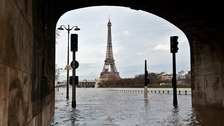 The River Seine has burst its banks