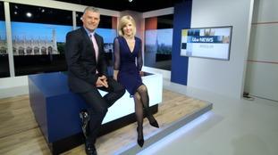 Jonathan Wills and Becky Jago in the ITV News Anglia studio