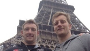 Exeter Chiefs players in France