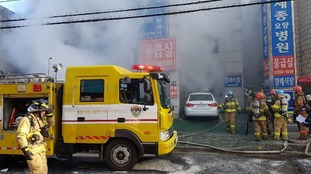 South Korea hospital fire leaves at least 37 dead and scores injured in Miryang