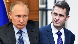 Gavin Williamson has accused Russia of spying on the UK's energy supply.