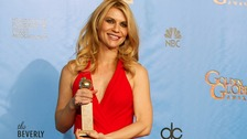 Clare Danes at the Golden Globes