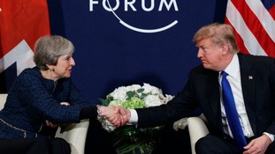 Theresa May and Donald Trump met at Davos on Thursday.