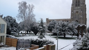 St Neots, Cambridgeshire, in the snow