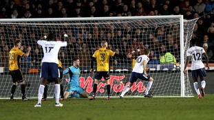 FA Cup: Kane to the rescue for Spurs to save blushes at Newport
