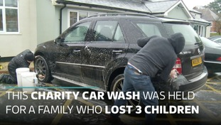 Community rally with car wash to help family who have lost 3 children to rare condition