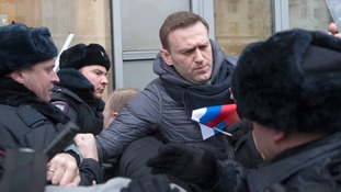 Russian opposition leader Alexei Navalny arrested after calling day of nationwide protests