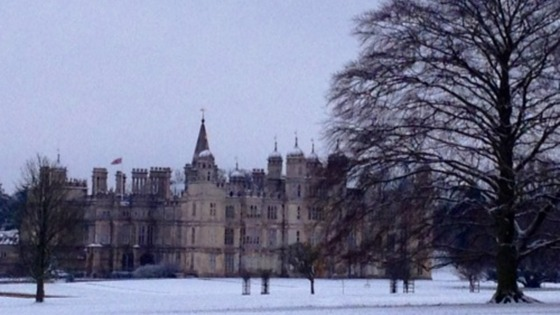 Burghley House, Stamford, this morning