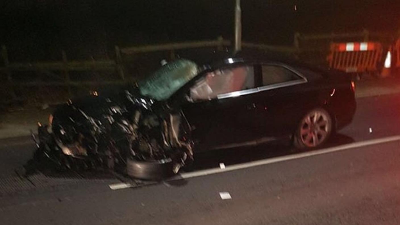Audi Car Accident In India