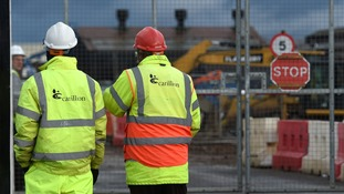 Carillion workers at Midland Metropolitan Hospital in Smethwick where construction work is being carried out by the firm.
