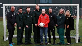 Football coach thanks quick thinking colleagues for saving his life